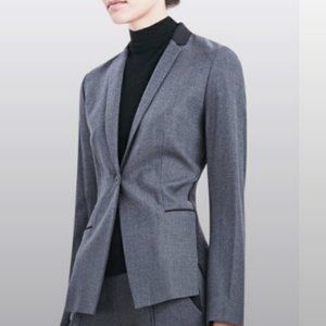 ELIE TAHARI || Lindley Blazer Jacket Lamb Leather